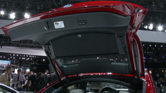 Detail of the new BMW X4 at the New York International Auto Show Stock Footage