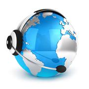 3d global communication concept - stock illustration