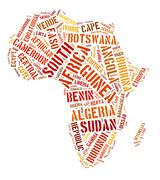 African continent graphic illustration - stock photo