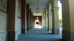 4K UHD Hyperlapse Time Lapse Hofgarten Gallery Corridor Munich Germany Europe Stock Footage