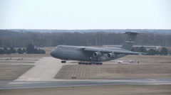 The 18th and final  C-5M Super Galaxy Arrives at Dover Stock Footage