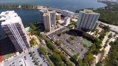 Aerial video of Brickell Miami condominiums Stock Footage