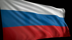 Flag Russia Stock Footage