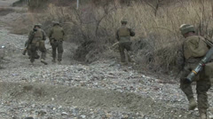 US Marines conduct Weapons Training Pohang, South Korea Stock Footage