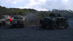 Marines Perform Mechanized Assault Stock Footage