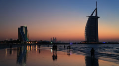 Stock Video Footage of The world's first seven stars luxury hotel Burj Al Arab in Dubai,