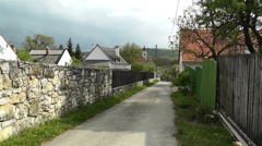 Old Village in Hungary 1 handheld Stock Footage
