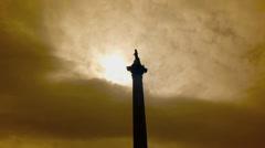 Trafalgar Square, London, UK - stock footage