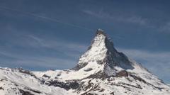 Matterhorn clouds timelapse Stock Footage