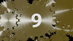 Ten Second Countdown cogs Stock Footage