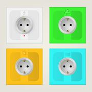 Illustration of eco sockets Stock Illustration