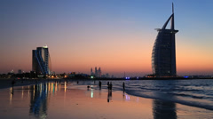 The world's first seven stars luxury hotel Burj Al Arab - stock footage