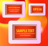 Display text box design with rounded corners Stock Illustration