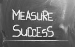 Measure success concept Stock Illustration