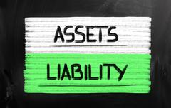 Assets liability concept Stock Illustration