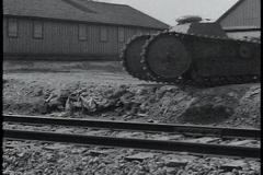 World War I tank stuck Stock Footage
