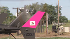 Tail rotor of helicopter Stock Footage