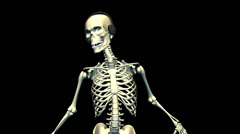 Dancing Skeleton Stock Footage