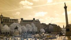 Trafalgar Square, London, UK Stock Footage