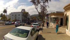 Laguna Beach California Main Street Traffic And Shops Stock Footage