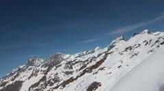 Glacier Panorama at alpine destination Gornergrat Stock Footage