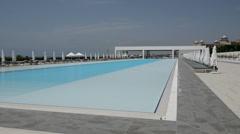 The swimming pool at the modern luxury hotel, Antalya, Turkey - stock footage