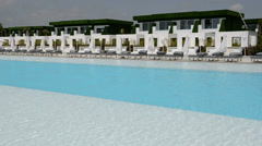 The swimming pool at the modern luxury hotel, Antalya, Turkey Stock Footage