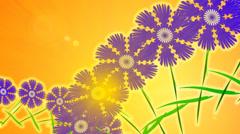 Cornflower-blue glade. Animation. Stock Footage