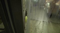 Food bank exterior of freezer Stock Footage