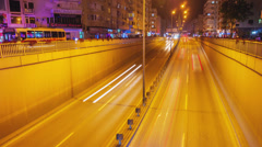 Night city traffic timelapse in Antalya, Turkey Stock Footage