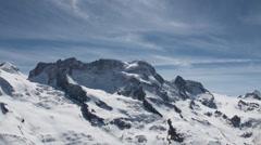 Glacier clouds timelapse at Gornergrat Stock Footage