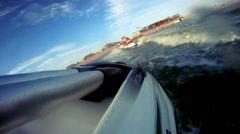 Jet ski jumping on waves - stock footage