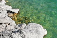 Salt kokoonpanojen Kuolleenmeren Israelissa. Kuvituskuvat