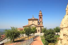 Old church in diano d'alba, italy. Stock Photos