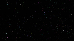 Twinkling stars abstract background, colorful realistic Stock Footage