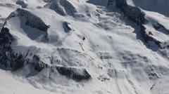 Glacier at Alpine destination Gornergrat Stock Footage