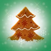felt christmas tree - stock illustration
