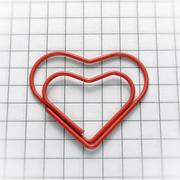 Heart shaped paper clip Stock Photos