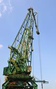 Port crane in vertical composition - stock photo