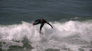 Stock Video Footage of 4K Surfer Slomotion