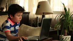 Stock Video Footage of little child with laptop 3