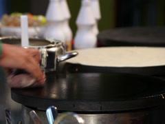 Pancake cooking Stock Footage