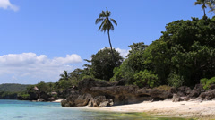 Beautiful beach in Anda, Bohol island, Philippines Stock Footage