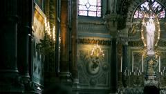 Notre-Dame de Fourviere Altar Stock Footage