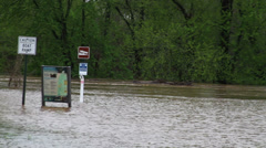 1492 Fast Moving River at Flood Stage Flooding Stock Footage