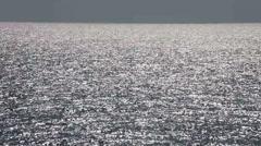 Horizon over ocean water glittering waves seascape Stock Footage