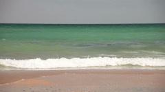 Horizon over ocean water beach shore Stock Footage