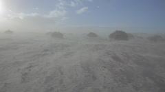 Sandstorm in desert Stock Footage