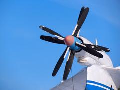propeller of plane - stock photo