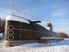 submarine in dock - stock photo